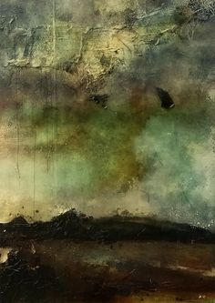 Job Klijn. Moody abstract art. 'Lost in Dust and Spinning Winds'