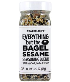 Our 15 favorite healthy Trader Joe's products to help make healthy eating easier: Everything But the Bagel Seasoning | Cool Mom Eats