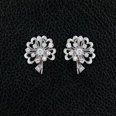 Diamond Hearts & Flowers Earrings