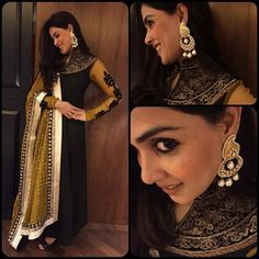 Fashion tips from Sonam, Nargis, Ranveer this Diwali! See, learn and apply these cues! Indian Celebrities, Bollywood Celebrities, Bollywood Fashion, Bollywood Style, Indian Gowns, Indian Outfits, Indian Clothes, Fashion News, Fashion Show