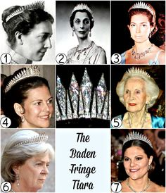 ♛ Diadem Directory: Sweden The Baden Fringe Tiara ✦ Alternate names: The Swedish Sunray Tiara ✦ First appearance: 1881 ✦ Origin: gifted to Queen Victoria of Sweden by her parents, the Duke and. Royal Crown Jewels, Royal Crowns, Royal Tiaras, Royal Jewelry, Tiaras And Crowns, Crown Princess Victoria, Queen Victoria, Princess Jewelry, Diamond Tiara