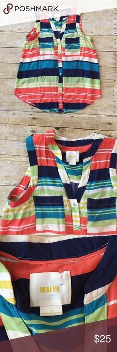 Anthropologie Maeve Multi Colored Tank Top Great condition! No noticeable flaws Anthropologie Tops Tank Tops