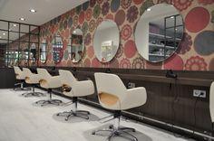 Salón de belleza, estilo Moderno color Marron, Marron, Beige,