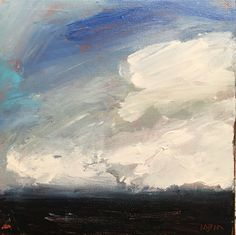 """Acrylic on canvas. 8x8 """"Three's a Cloud"""""""