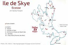 Carte Ile de Skye Carte Ecosse lieux d interet