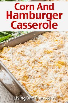 Casserole Recipes - Quick And Easy Meals! Hamburger Casserole Recipes For Quick And Easy Meals! – – Living on a DimeHamburger Casserole Recipes For Quick And Easy Meals! – – Living on a Dime Meat Recipes For Dinner, Healthy Meat Recipes, Dinner Recipes Easy Quick, Supper Recipes, Quick Easy Meals, Beef Recipes, Beef Meals, Easy Dinners, Recipies