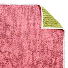 Melon/Lime Cabin Quilt by Serena & Lily--I LOVE this color combination!!