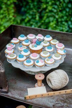 Rustic, sewing themed ideas