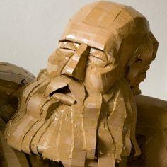 cardboard shield | DylanShields03 300x300 Cardboard sculptures Dylan Shields