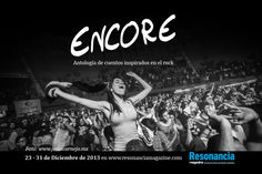 Encore, antología de cuentos inspirados en el rock. Especial Anual de Resonancia Magazine