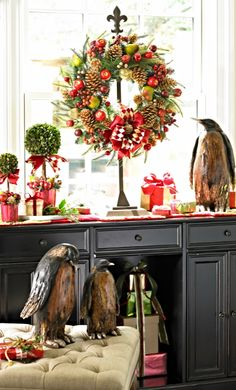 For those who find most wreaths just a bit on the sedate side, we present our Hailey Holiday Wreath as a colorful reminder of all that distinctive decor can bring to any home.