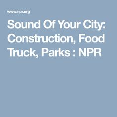 Sound Of Your City: Construction, Food Truck, Parks : NPR; Crowd watching a rocket launch for Cape Canaveral, Florida