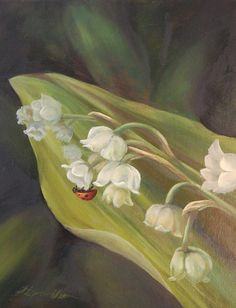 Lady Bug on Lily of the Valley by GrinningLikeAnIdiot on Etsy, $200.00