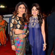 Shilpa Shetty and Shamita Shetty at the Umang Police Show 2016. #Bollywood #Umang2016 #Fashion #Style #Beauty #Hot #Sexy #Desi