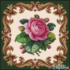 Cross Stitch Pillow, Cross Stitch Borders, Cross Stitch Rose, Modern Cross Stitch, Cross Stitch Flowers, Cross Stitch Designs, Cross Stitching, Cross Stitch Embroidery, Embroidery Patterns