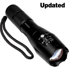 DOODEEN Super Bright led Flashlight T6 Water Resistant Torch Adjustable Focus Zoom Tactical Light Lamp for Outdoor Powered by 1pcs 18650 Or 3pcs AAA Battery (Battery Not Included) ** You can find more details by visiting the image link.