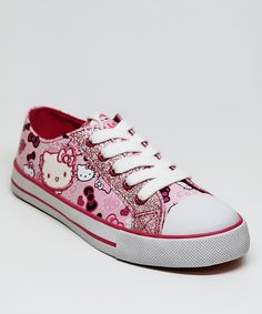 Hello Kitty Pink Lacy Sneaker