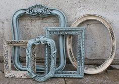 Such beautiful frames. I think they'd be beautiful on a wall just like they are.