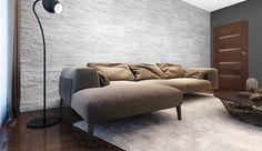 foorni.pl | KAMIEŃ NATURALANY BIANCO. kamienna ściana w salonie,  producent: Stegu