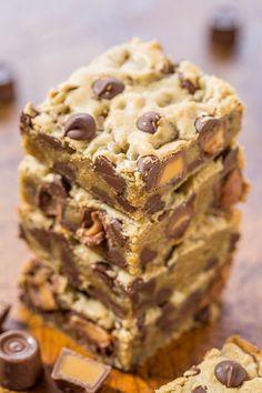 Rolo Chocolate Chip Blondies Recipe