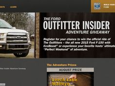Ford Outfitter Insider Adventure Sweepstakes