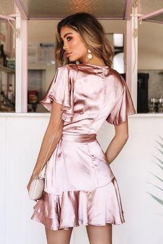 Talking To You Dress Rose Gold