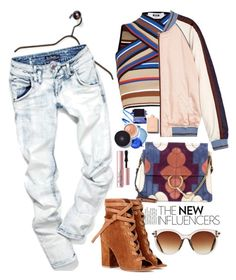 """""""My Mood Today"""" by lidia-solymosi ❤ liked on Polyvore featuring MSGM, Chloé, Gianvito Rossi, Icon Eyewear, Maison Scotch and Too Faced Cosmetics"""