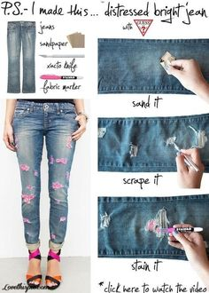e8d7e96fe6 DIY with Old Jeans Old jeans may be the best thing to wear