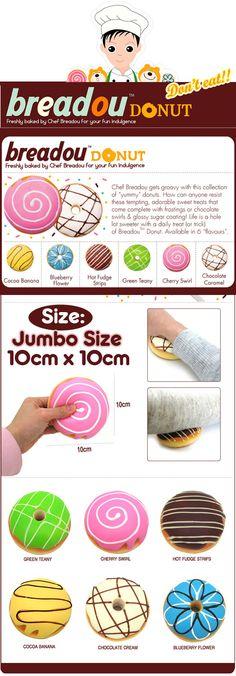 Breadou Jumbo Donut Squishy Original packaging