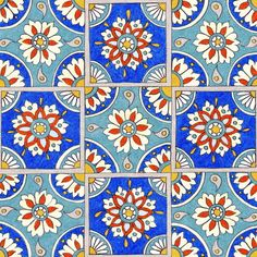 Italian Tiles Art Print
