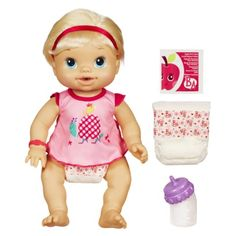 Baby Alive Wets 'N Wiggles Doll Layla wanted to have a baby of her own so I'm thinking about this one.
