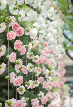 ceremony backdrop of pink and white carnations is pretty fantastic, too. This ceremony backdrop of pink and white carnations is pretty fantastic, too. Mod Wedding, Wedding Ceremony, Wedding Venues, Dream Wedding, Wedding Day, Ceremony Backdrop, Backdrop Ideas, Trendy Wedding, Wedding Backdrops