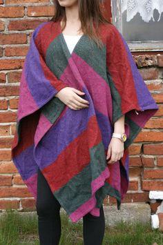 vintage coat ponczo lata 80s MEXX płaszcz od Kingdom of Vintage