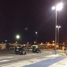 The service area of the highway of night