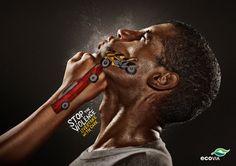 Stop the Violence: campagna sociale sui rischi della strada - Sorpassa con cura #grafica #outdoor #adv #socialcampaign
