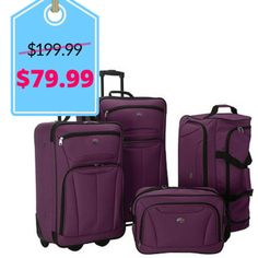 Samsonite 3-pc Luggage Set with 27″ Check-in 4-wheel Spinner & 21 ...