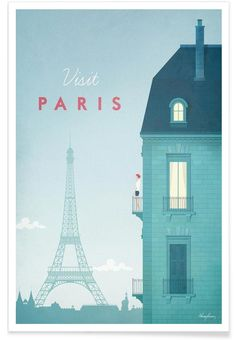 Paris en Affiche premium par Henry Rivers | JUNIQE