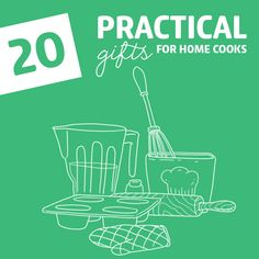 20 Practical Gifts for Home Cooks- these useful kitchen gifts will make home cooks meal prep and cooking easier and so much more enjoyable. If your friends or family members love to cook, these products will make the perfect gifts.