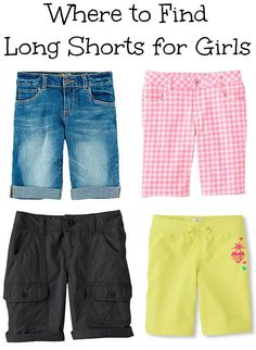 where to find long shorts for girls