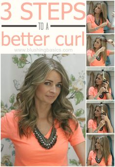 How to curl your hair and get it to stay // Blushing Basics