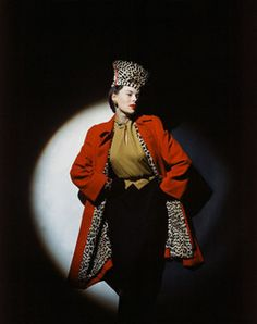 Unbridled leopard print chicness! #vintage #fashion #1940s #hat #coat