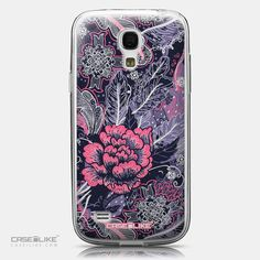 CASEiLIKE Samsung Galaxy S4 mini back cover Vintage Roses and Feathers Blue 2252
