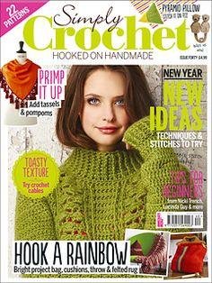 Simply Crochet 2016 Lost in Atlantis shawl Crochet Cable, Crochet Chart, Diy Crochet, Crochet Stitches, Knitting Magazine, Crochet Magazine, Knitting Books, Crochet Books, Shibori
