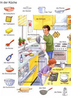 In der küche | Deutsch lernen                                                                                                                                                                                 Más