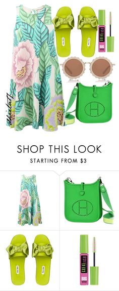 """""""Spring Come Erlier"""" by dhieta17 ❤ liked on Polyvore featuring Mara Hoffman, Hermès, Miu Miu, Maybelline, House of Holland, Spring, dress and springlook"""