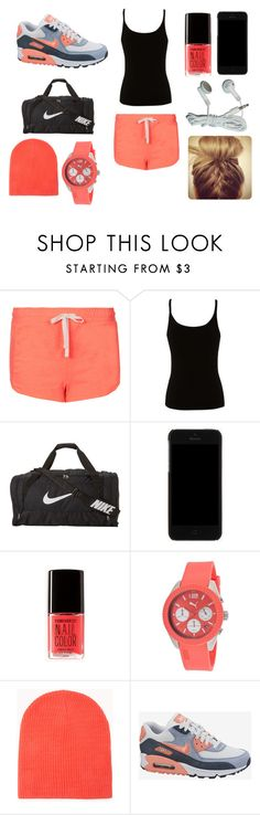 """nike"" by sarah-lydie ❤ liked on Polyvore featuring Topshop, Lipsy, NIKE, Dolce&Gabbana, Forever 21 and Puma"