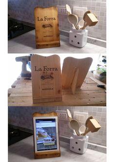 Porta tablet ricetta di cucina.