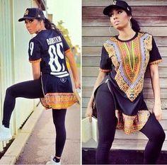 t-shirt ariation streetwear african style dashiki urban african print dope top