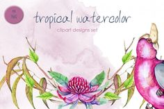 watercolor world | 42 Design Products | TheHungryJPEG.com