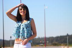 #spring #top #croptop #blue #flowers #fashion #fashionblogger #mode #moda
